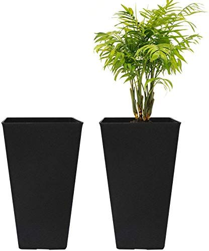 Amazing Offer On Tall Planters 20 Inch Flower Pot Pack 2 Patio