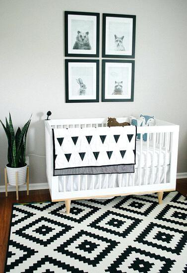 Black And White Nursery Decor Baby Boy Room Idea