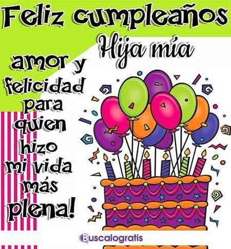 Frases De Cumpleaños Para Una Hija Cumpleaños Hijo Feliz Cumpleaños Mi Hija Mensaje De Feliz Cumpleaños