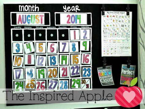 Do-it-yourself canvas calendar!  Free calendar labels as well.
