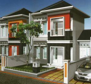 modern bertingkat 2 gaya minimalis #rumah #minimalis #