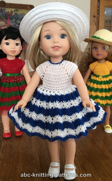 Paid and Free Crochet Patterns for 18-inch Dolls Like the American ... | 726x450