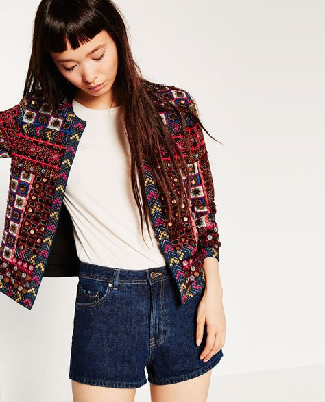 EMBROIDERED JACKET-OUTERWEAR-WOMAN | ZARA United Kingdom
