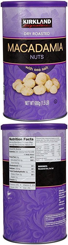 Kirkland Dry Roasted Macadamia Nuts With Sea Salt 680g 1 5 Lb