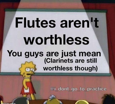Flute/Piano notes for random songs🎶 I play flute and piano! Funny Band Memes, Music Memes Funny, Music Jokes, Band Jokes, Music Humor, Marching Band Problems, Marching Band Memes, Flute Problems, Flute Jokes