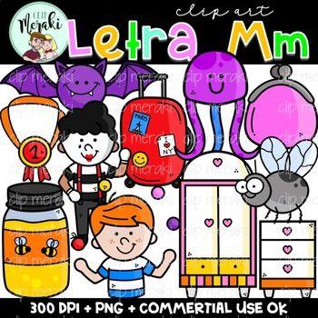 Letra M El Alfabeto Spanish Alphabet Clip Art By Clip Meraki Clip Art Art Alphabet