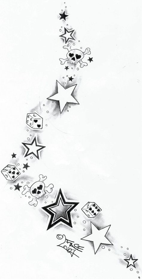 Skull Dices StarsTattoo Design by on DeviantArt – skull tattoo sleeve Skull Tattoos, Body Art Tattoos, Sleeve Tattoos, Cool Tattoos, Best Star Tattoos, Makeup Tattoos, Tatoos, Rockabilly Tattoos, Rockabilly Tattoo Designs