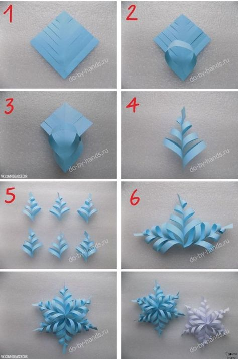 Image about diy in 🌻 Crafts 🌻 by 💜 Sweet Cabello 💜 - Holiday wreaths christmas,Holiday crafts for kids to make,Holiday cookies christmas, Paper Christmas Decorations, Christmas Paper Crafts, Holiday Crafts, Christmas Diy, Frozen Party Decorations, Snowflake Decorations, Elegant Christmas, Holiday Wreaths, Handmade Christmas