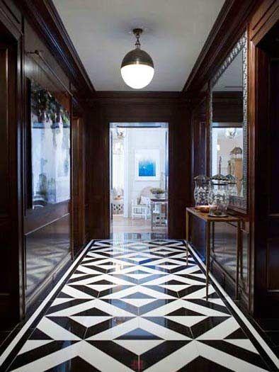 25 Cly And Elegant Black White Floors Flooring Ideas Tile Design Unique