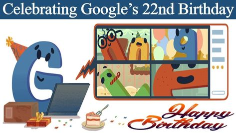 Google 22nd Birthday Celebrated Today, Doodle Created in a Special Way #GoogleDoodle #googlebirthday #Google #GoogleMeet #GoogleSlides #Google22ndBirthday #Doodle