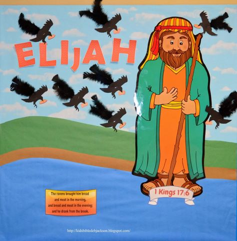 Elijah Bulletin Board with free printables