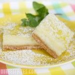 Creamy Lemon (or lime) Bars - a twist on the classic lemon bar - it's a little lemon cheesecake bar.