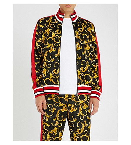 get online 2018 shoes another chance VERSACE Baroque-print jersey tracksuit jacket. #versace ...