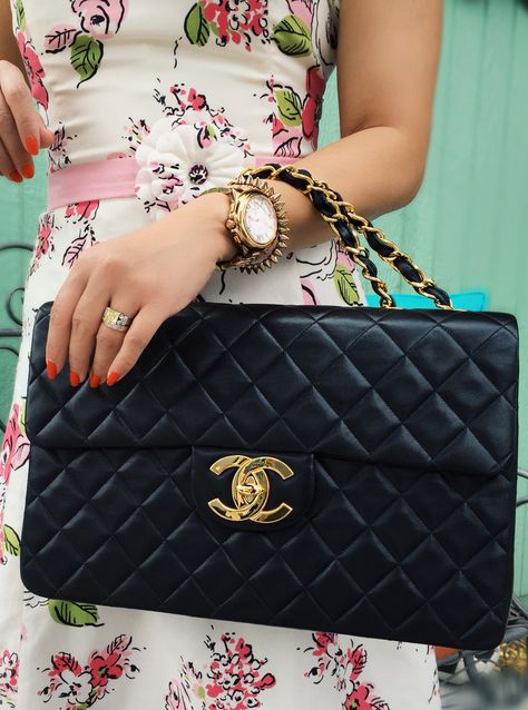 6adf88dbec38 Couldn't justify the purchase until...I just did! Vintage Chanel XL jumbo