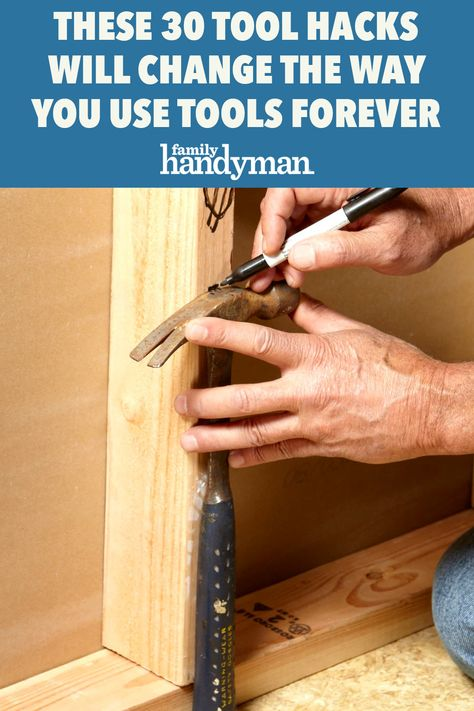 Simple Life Hacks, Useful Life Hacks, Awesome Life Hacks, Woodworking Techniques, Woodworking Projects, Handyman Projects, Woodworking Furniture, Sauder Woodworking, Carpentry Tools