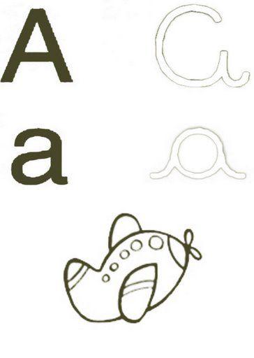 Alfabeto Ilustrado Para Pintar Com As 4 Letras Com Imagens