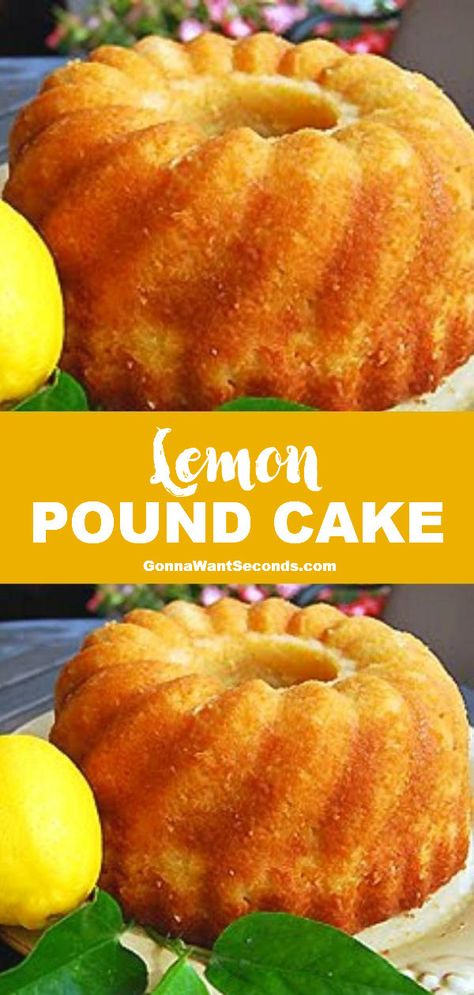 *NEW* This simple lemon pound cake is the ideal springtime dessert with a sweet tangy flavor and a moist disposition that would make grandma proud. #LemonPoundCake #PoundCake #BundtCake #LemonCake #Cake