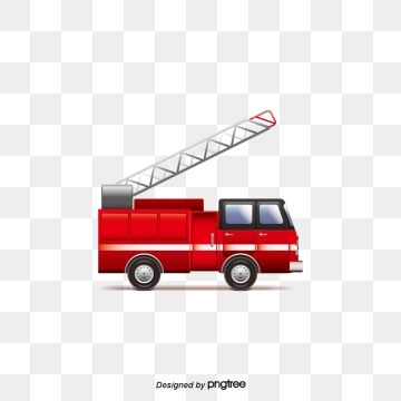 Red Fire Safety Fire Truck Security Propaganda Illustration Png