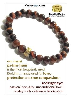 Natural Strawberry Quartz Charm Bracelet Beaded Meditation Spiritual Stretch Mantra Reiki Healing Energy Boho Chakra Wrap Yoga Buddhist Jewelry /& Gemstone Gifts KarmaArm OM Bracelet Gratitude
