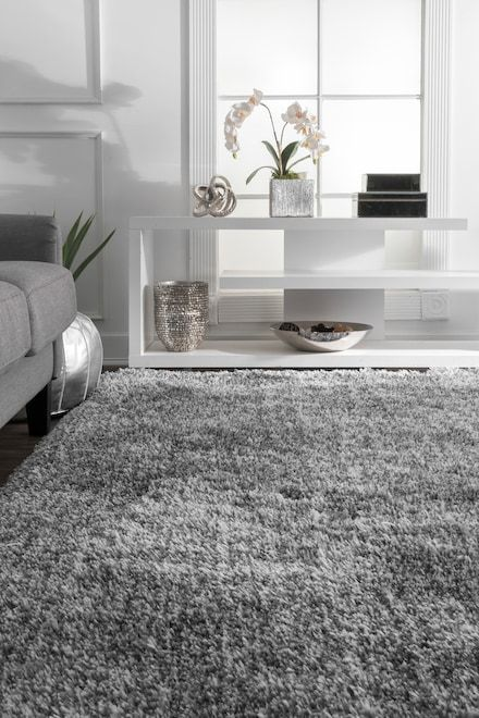 Terrace Fluffy Speckled Shag Gray Rug Gray Rug Living Room Shag Rug Living Room Fluffy Rugs Bedroom