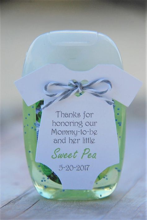 Items similar to 10 tags ~ Baby Shower ~ Sprinkle ~ Party Favor ~ Girl or Boy Gift Tags ~ Mommy-to-be ~ Honoring ~ Celebrating ~ Sweet Pea ~ Sanitizer on Etsy Baby Shower Favors Girl, Baby Shower Niño, Shower Bebe, Baby Shower Gender Reveal, Baby Shower Games, Baby Shower Parties, Baby Boy Shower, Baby Shower Goodie Bags, Baby Party Favors