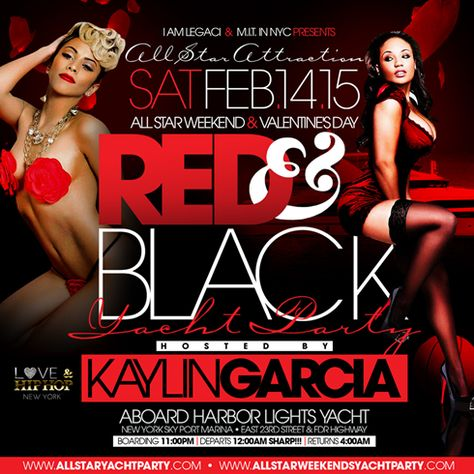 All Star Attraction All Star Weekend 2015 & Valentine's Day Red & Black Yacht Party @ Harbor Lights Yacht Saturday February 14, 2015 « Bomb Parties – Club Events and Parties – NYC Nightlife Promotions