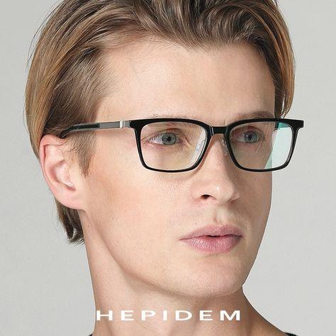 04cdc2be1a Acetate B Titanium Glasses Frame Women Ultralight Prescription Eyeglasses  Men 2018 Myopia Optical Screwless Eyewear eyeglasses