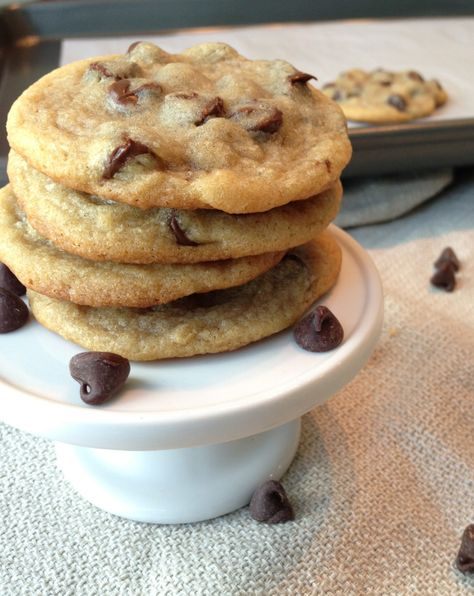 The BEST Chewy Chocolate Chip Cookie recipe! Amaaazing!! I used chocolate chunks instead of chips and added a dash of cinnamon to the flour mixture. I will never make any other choc. chip cookie recipe!!!!!! -AM