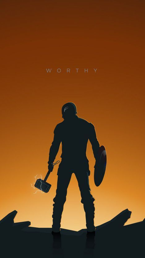 Captain America With Thor Hammer Endgame IPhone Wallpaper - IPhone Wallpapers