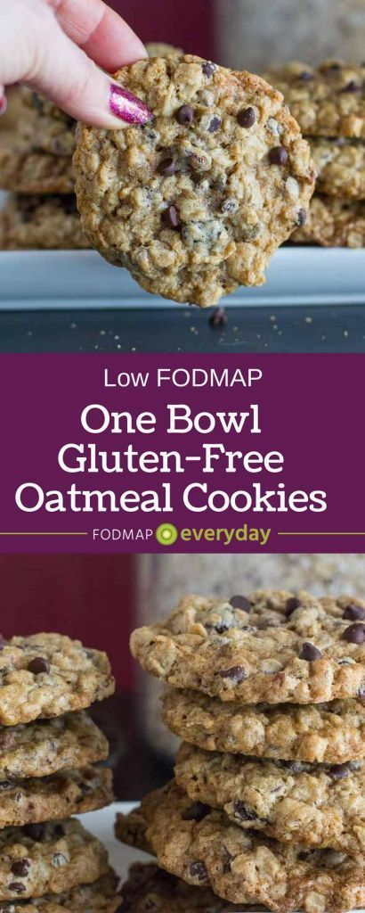 Our One-Bowl Oatmeal Chocolate Chip Cookies are gluten-free, low FODMAP and easy enough for beginner bakers to make. They whip up by hand in a bowl - no mixer needed! dinner gluten free One-Bowl Oatmeal Chocolate Chip Cookies - FODMAP Everyday Gluten Free Sweets, Gluten Free Baking, Easy Gluten Free Cookies, Gluten Free Potluck, Easy Gluten Free Meals, Gluten Free Chips, Gluten Free Casserole, Gluten Free Bars, Gluten Free Kitchen