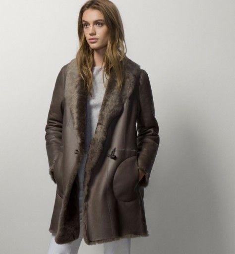 Kozuszek Futerko Massimo Dutti Naturalna Skora Owc 7161008773 Oficjalne Archiwum Allegro Coat Coats Jackets Women Coats For Women