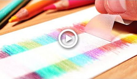 12 Genius Drawing Hacks For Colored Pencils Painting Painting