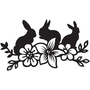 Stencil Bunny Kisses /& Easter Wishes Rabbit Spring Sign Stencil