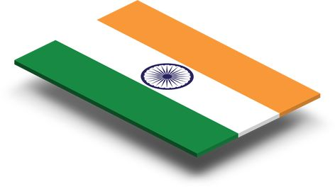 India Flag In Rich Quality Definition Composed Of Three Rectangles Colored From The Top Down Orange White And Green The Cente Wallet Flag