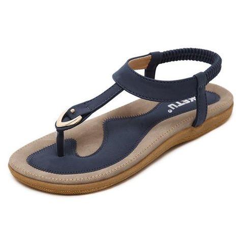 Minetom Sandalias Mujer Cu/ña Alpargatas Bohemias Romanas Sandals Rivet Playa Verano Tacon Planas Zapatos Casual Moda