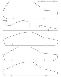 Free pinewood derby templates for a fast car.