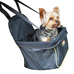 Animal Planet Puppy Booster Car Seat Cover For Small Dogs Portable Foldable Collapsable Pet Car Carrier With Safety Leash 12lbs Under Black W Green T Small Dog
