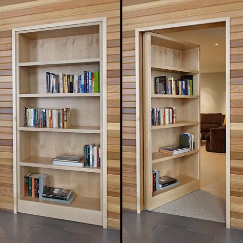 Pdf Secret Hidden Bookcase Door Downloadable Pdf Plans Diy Free Plans Download 3 Plywood In 2020 Hidden Door Bookcase Hidden Rooms Bookcase Door