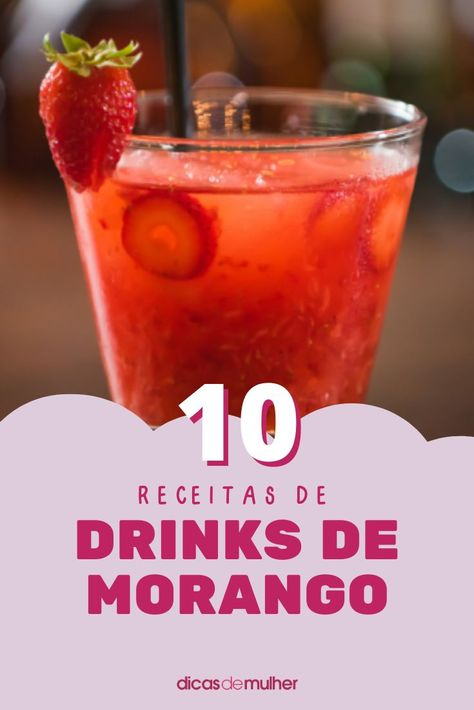 #drinks #morango #drinkstropicais #receitas