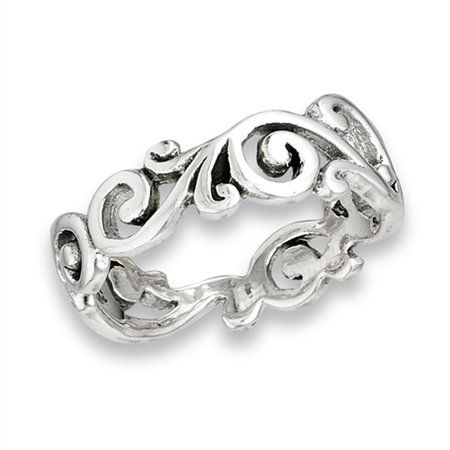 Details about  /Sterling Silver Plumeria Ring Various Sizes