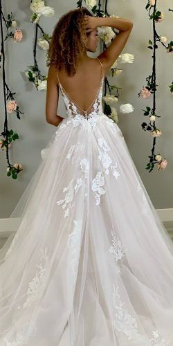 Sophicticated Backless Wedding Dresses ★ backless wedding dresses princess with spaghetti straps enzoani