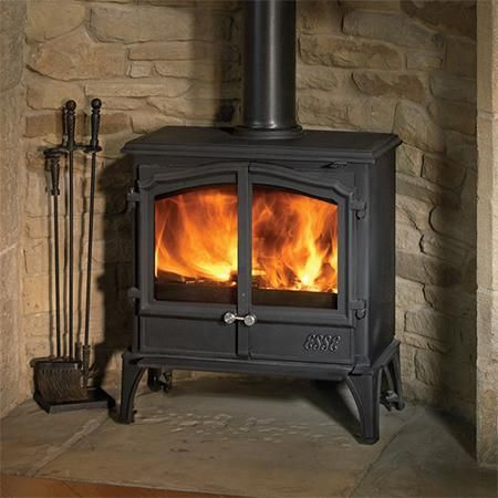 The Esse 100 Double Door Multi Fuel Wood Burning Stove Is A Perfect Choice Where Hearth Depths Are Limited Or In Ro Wood Burning Stove Wood Fuel Wood Burner
