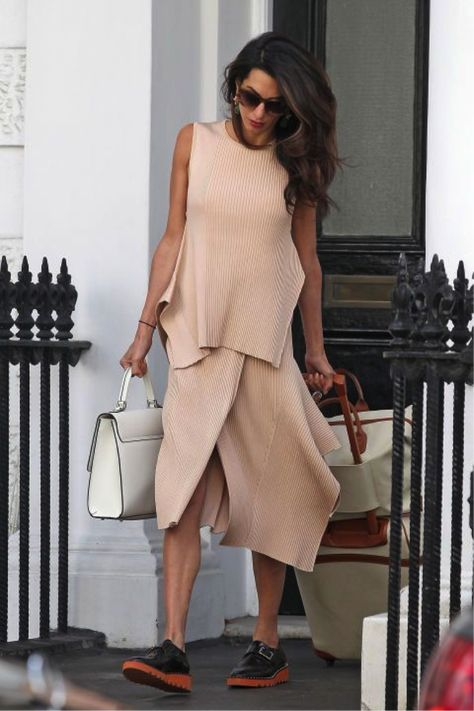 Amal Clooney Just Rocked the Perfect Summery Dress for Date Night with George Textured coats, elegant jumpsuits, and and flawless accessories; these are Amal Clooney's most stylish looks.
