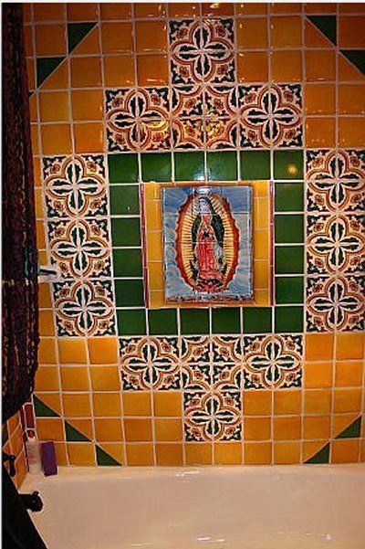 Mural Tiles For Kitchen Decor Mexican Kitchen Decor  Decor Projects On Mexican Tile Mural
