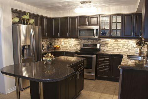 Dark Brown Kitchen best 25+ dark wood kitchens ideas on pinterest | beautiful kitchen