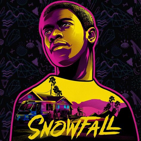 "𝖎𝖑𝖔𝖛𝖊𝖉𝖚𝖘𝖙 on Instagram: ""Franklin Saint. #snowfall #snowfallfx #franklin #fxchannel #ilovedust #illustration"""