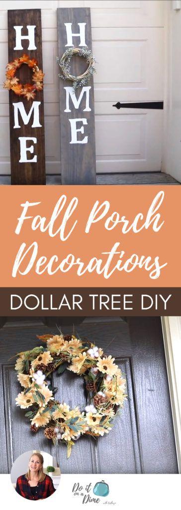 Dollar Tree Fall Porch Diys Wood Sign Wreath More Fall Decor Dollar Tree Dollar Tree Halloween Dollar Tree Fall