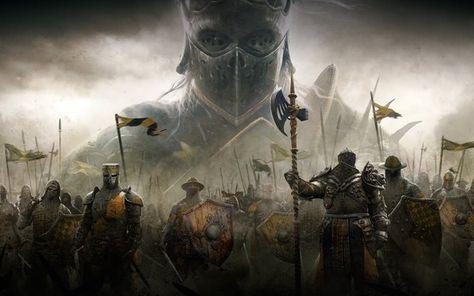 Download Wallpapers For Honor 2017 4k Knights Blackstone Legions Vikings Samurai Besthqwallpapers Com Knight Fantasy Art For Honor Gameplay