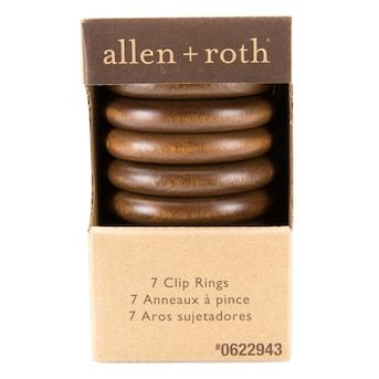 Allen Roth 7 Pack Brown Curtain Ring Lowes Com In 2020