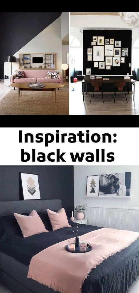Inspiration: black walls